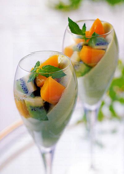 Matcha Fruit Bavarois Bento Com